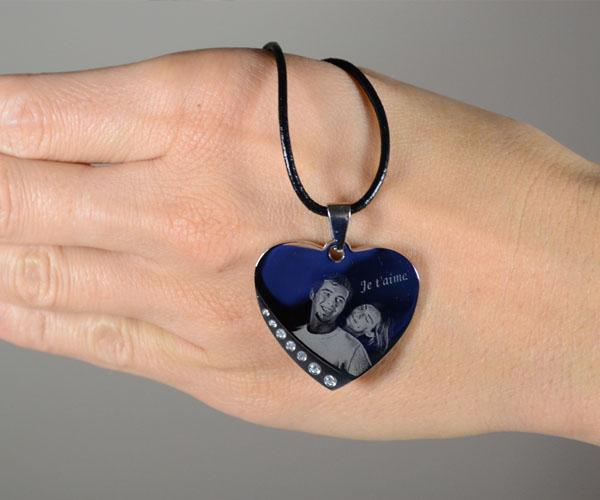 pendentif coeur strass gravéopy