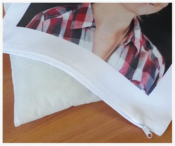 coussin blanc personnalisé